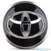 OE Genuine Toyota RAV 4 Camry Highlander Black Center Cap with Chrome Logo CAP4683