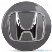 OE Genuine Honda Charcoal Center Cap with Chrome Logo CAP2407