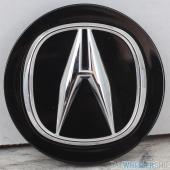 OE Genuine Acura Black Center Cap with Chrome Logo CAP9917