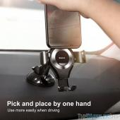 Baseus Dashboard Gravity Car Phone Mount Holder All Black for Universal Smartphone