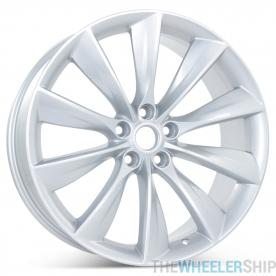 "New 21"" x 9"" Rear Wheel for Tesla Model S 2012 2013 2014 2015 2016 2017 Silver Rim 97095"