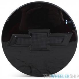OE Genuine Chevrolet Silverado Tahoe Suburban Avalanche 2010-2019 Center Cap Black W/ Black Logo 23480948/20942033
