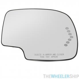 New Mirror Glass and Backplate for Chevy GMC Truck Right Passenger Side Power Turn Signal