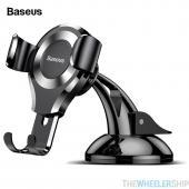 Baseus Dashboard Gravity Car Phone Mount Holder Black/Silver for Universal Smartphone