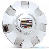 OE Genuine Cadillac Center Cap Colored Crested W/ Chrome 22906845 for Escalade Fits wheel 4737 CAP7050
